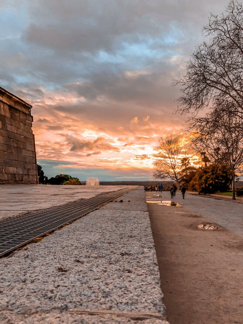 things to do, madrid, templo de debod, view