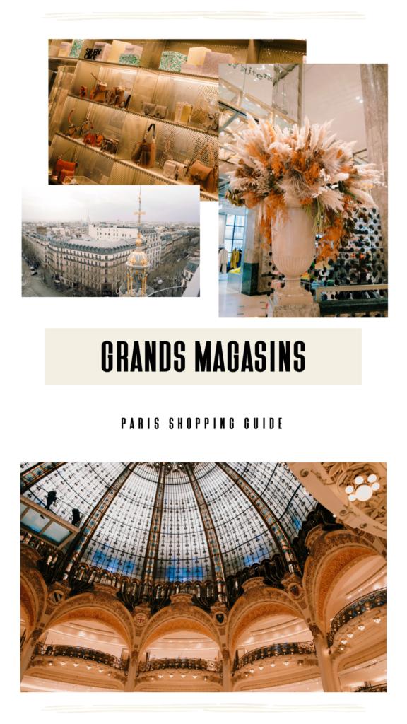 Kaufhaus in Paris, Shopping in Paris, Collage, 1