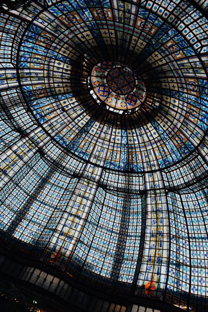 Kaufhaus in Paris, Shopping in Paris, Printemps Haussmann, Glaskuppel, 4