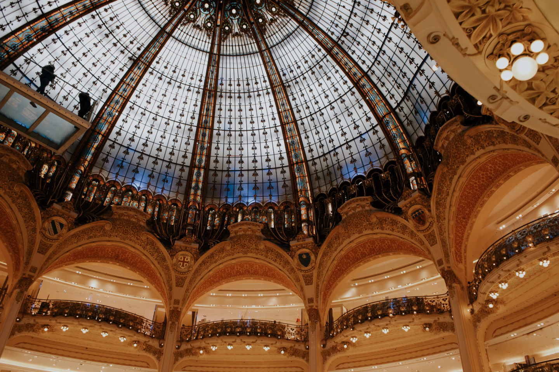 Kaufhaus in Paris, Shopping in Paris, Galeries Lafayette, Glaskuppel, 6
