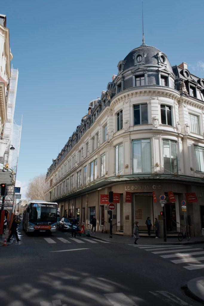 Kaufhaus in Paris, Shopping in Paris, Le Bon Marché, Fassade, 3