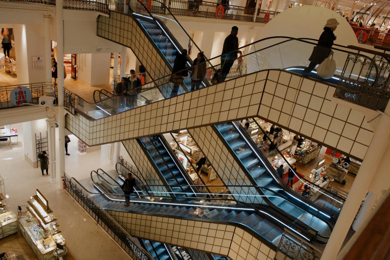 Kaufhaus in Paris, Shopping in Paris, Le Bon Marché, Treppen, 2