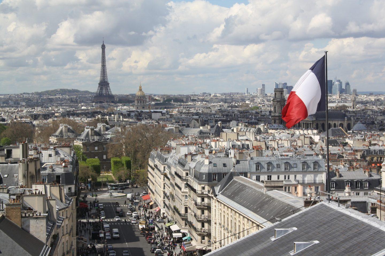 Paris von Oben, Aussichtspunkt Pantheon, Aussicht auf den Invalidendom und Eiffelturm